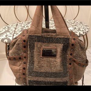 Isabella flore tweed tan bag